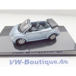 VW New Beetle Cabrio open speed blue metallic 1:43