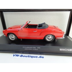 VW Karman Convertible in 1:18  Minichamps + 1970 black 155054031
