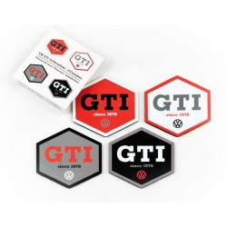 VOLKSWAGEN VW GTI COASTER 4er SET - HEXAGON/4 COLOURS