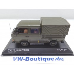 VOLKSWAGEN VW T3 b Bus Doka signal orange 1:43 Minichamps