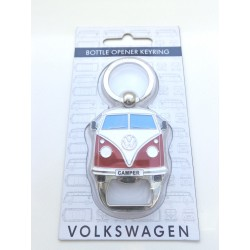 Original Keyring VW T1 Bus with Bottle Opener - blue