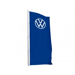 Volkswagen VW flag 1 x 3 meters, with 3D logo, ORIGINAL