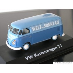 "VW T1 bus with ""Welt am Sonntag"" Advertising"