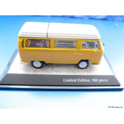 VW T2a Bus Camper Westfalia pop-up yellow