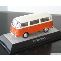 VW T2b Bus window bright orange / white