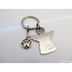 VW angel keychain + Drive Safe