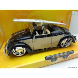 VW Beetle Convertible Hebmüller chrome wheels with surfboard beige/black 1:24