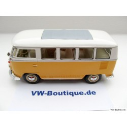 VW T1 Bus 1963 yellow / white 1:24