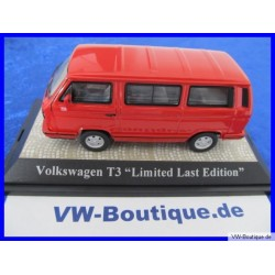 VW T3 b Bus Multivan LLE Last Limited Edition rot 1:43