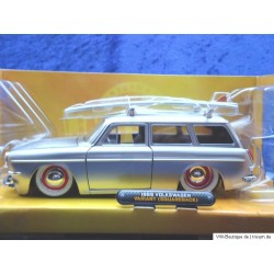 VW 1600 Typ 3 Variant with surfboard silver 1:24