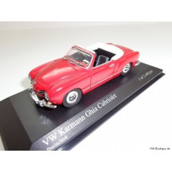 VW Karmann Ghia Convertible Iberisch red Type 14 1:43