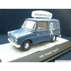 VW Fridolin type 147 blue VW service technician 1:43