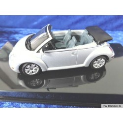 VW New Beetle Cabrio open silver 1:43