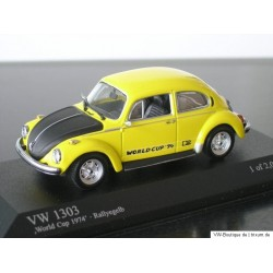 VW Beetle 1303 World Cup 74 rallye yellow 1:43