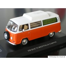 VW T2a Camper Westfalia high roof orange-white 1:43