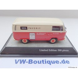 VW T2b box with AEG / Telefunken advertising red and beige 1:43