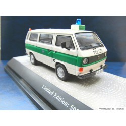 VW T3 a police green-white - only 500 pieces - 1:43